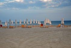 晴朗的海滩,保加利亚 免版税库存照片