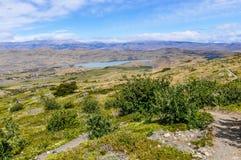 晴朗的看法,托里斯del潘恩国家公园,智利 图库摄影