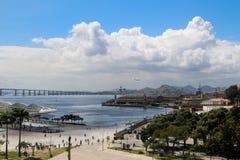 晴朗的秋天天在里约热内卢 免版税库存照片