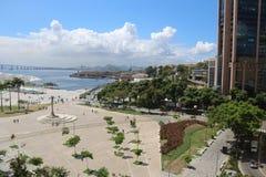 晴朗的秋天天在里约热内卢 免版税图库摄影