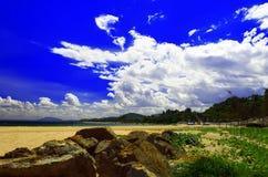 晴朗的Mui Ne海滩。 库存图片