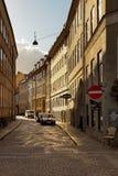 晴朗的Snarregade哥本哈根 免版税库存图片