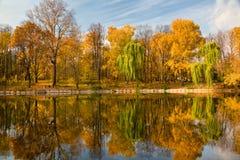 晴朗秋天的日 库存照片
