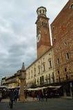 4朗贝尔蒂塔 百草广场维罗纳意大利 免版税库存照片