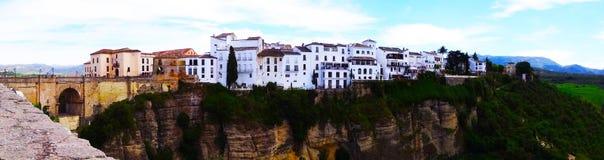朗达全景,安大路西亚,西班牙 库存图片