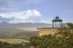 朗达全景 MÃ ¡ laga西班牙省的一个城市  库存照片