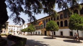 -朗达历史纪念碑镇大厅西班牙 库存图片