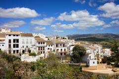 朗达城镇在西班牙 库存图片