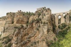 朗达安达卢西亚,西班牙:桥梁 库存照片