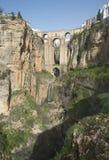 朗达山顶面镇在南西班牙 免版税库存照片