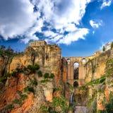 朗达村庄在安大路西亚,西班牙。 免版税库存照片