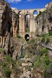 朗达桥梁在西班牙 免版税库存照片