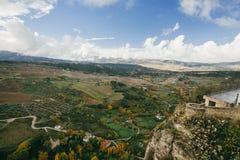 朗达的领域,马拉加地区  免版税图库摄影