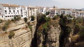 朗达美丽的看法全景朗达西班牙 免版税库存照片