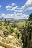 朗达风景视图 马拉加西班牙省的一个城市  免版税库存照片