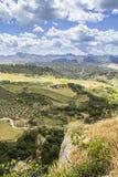 朗达风景视图 马拉加西班牙省的一个城市  库存照片