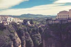 朗达,西班牙历史村庄  免版税库存照片