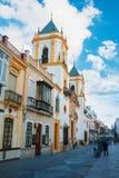 朗达,西班牙- 2014年2月04日:方形的广场台尔索乔尔罗和a 免版税库存照片