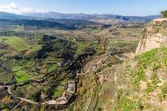 朗达,马拉加,西班牙全景  免版税库存图片