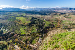 朗达,马拉加,西班牙全景  免版税库存照片
