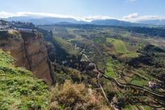 朗达,马拉加,西班牙全景  库存照片