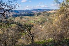 朗达,马拉加,西班牙全景  库存图片