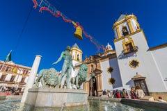 朗达,马拉加,西班牙教会  库存图片