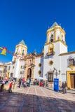 朗达,马拉加,西班牙教会  库存照片