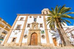 朗达,马拉加,西班牙教会  免版税库存图片