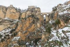 朗达,马拉加,西班牙桥梁  库存照片
