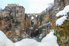 朗达,马拉加,西班牙桥梁  库存图片