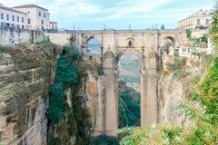 朗达 新的桥梁 免版税库存图片