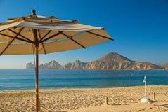 晴朗,朦胧的早晨在Cabo圣卢卡斯,墨西哥 库存图片