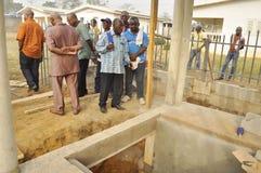 洛朗・巴博总统的母亲的葬礼的准备 图库摄影