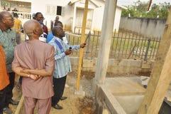 洛朗・巴博总统的母亲的葬礼的准备 免版税库存照片