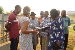 洛朗・巴博总统的母亲的葬礼的准备 库存照片