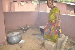 洛朗・巴博总统的母亲的葬礼 库存图片