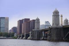 朗费洛桥梁查尔斯河波士顿 库存照片