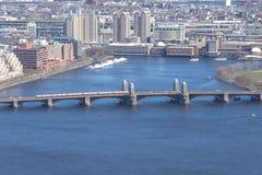 朗费洛桥梁,波士顿 免版税库存照片