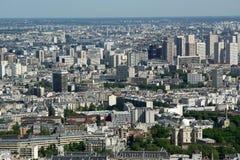 望远镜在白天的浏览器和城市地平线。 巴黎 库存图片