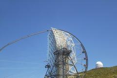 望远镜在Roque de los Muchachos La Palma 西班牙 免版税库存照片