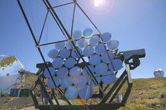 望远镜在Roque de los Muchachos La Palma 西班牙 免版税库存图片