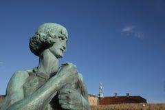 朝向克伦堡城堡的雕象 免版税库存照片