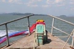 朝向对海的批转船 免版税库存照片