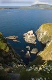 朝向苏格兰舍德兰群岛sunburgh视图 免版税库存图片