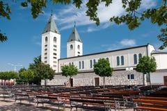 朝圣教会在Medjugorje 免版税库存图片
