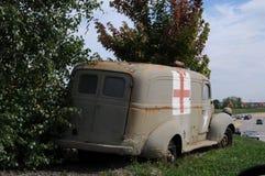 朝鲜战争militay救护车 免版税库存图片