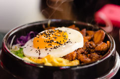 朝鲜拌饭韩国人食物 库存图片