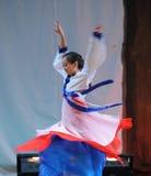 朝鲜族自转2011舞蹈课毕业音乐会党 库存照片