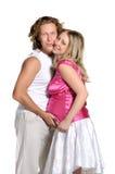 期待方式年轻人的婴孩夫妇 库存图片